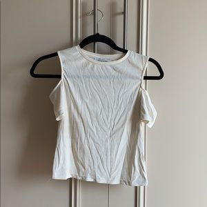Zara white open shoulder top